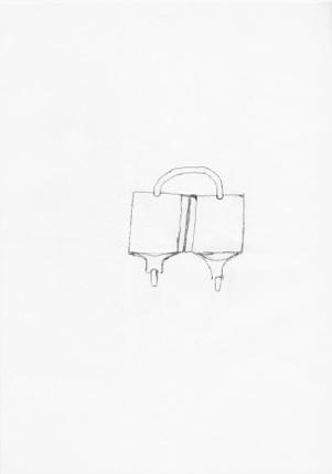 Utan titel blyerts på papper 30 x 21 cm 8